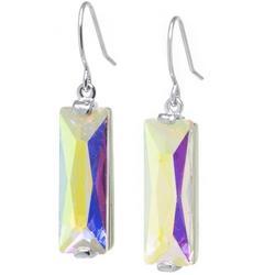 AB Crystal Rectangle Earrings