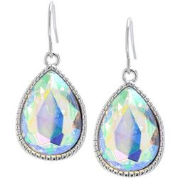 Lily Maris AB Crystal Teardrop Dangle Earrings