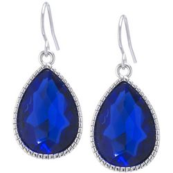 Lily Maris Royal Blue Teardrop Dangle Earrings