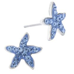 Lily Maris Light Blue Starfish Stud Earrings