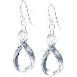Lily Maris Silver Tone Twist Dangle Earrings