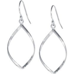 Lily Maris Open Twisting Diamond Shape Earrings