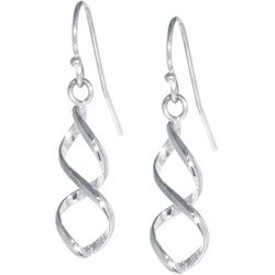 Lily Maris Silver Tone Twisted Drop Earrings