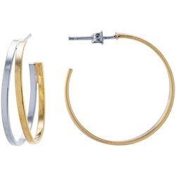 Starfish Box 38mm Two Tone Hoop Earrings