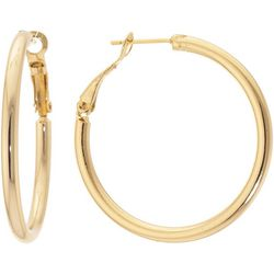 Starfish Box Clutchless Round Hoop Earrings