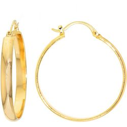 Starfish Box 40mm Round Click It Hoop Earrings