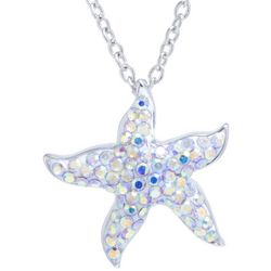 Florida Friends Crystal Elements Starfish Pendant Necklace
