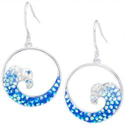 Florida Friends Pave Wave Disc Earrings