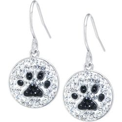 Florida Friends Crystal Elements Pave Paw Print Earrings