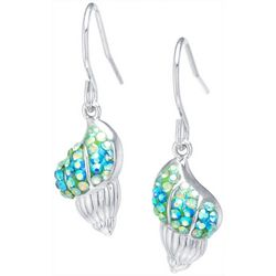 Florida Friends Crystal Elements Shell Drop Earrings