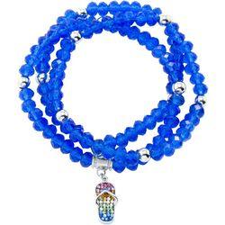 Florida Friends Blue Bead & Flip Flop Bracelet Set