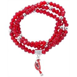 Florida Friends Red Bead & Cardinal Bracelet Set