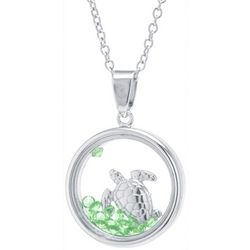 Florida Friends Sea Turtle Glass Pendant Necklace