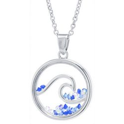 Florida Friends Crystal Elements Wave Pendant Necklace
