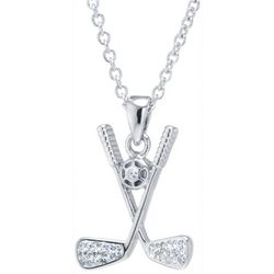 Florida Friends Crystal Elements Golf Club Pendant Necklace