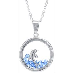 Florida Friends Crystal Elements & Dolphin Pendant Necklace