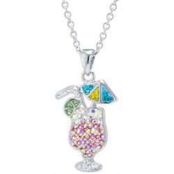 Florida Friends Crystal Elements Tropical Cocktail Necklace
