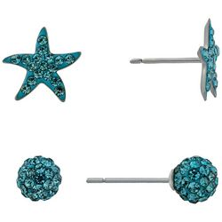 Piper & Taylor Rhinestone Starfish Sphere Earrings