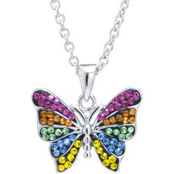 Florida Friends Multi Crystal Butterfly Necklace