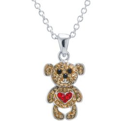 Florida Friends Crystal Teddy Bear Necklace