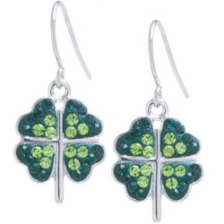 Florida Friends Crystal Elements Four Leaf Clover Earrings
