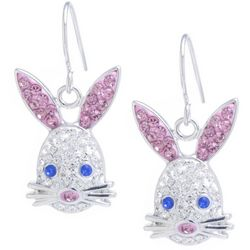 Florida Friends Pave Crystal Elements Bunny Earrings