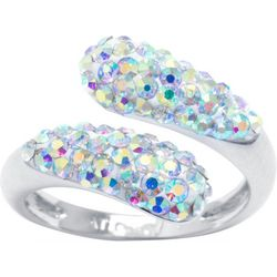 Ocean Treasures Rhinestone Ab Swirl Wrap Ring