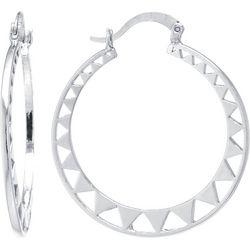 Starfish Box Open Triangle Cutout Hoop Earrings