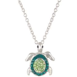 Florida Friends Green Turtle Necklace