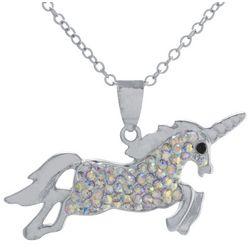 Florida Friends Crystal Unicorn Pendant Necklace