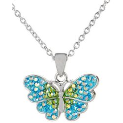 Florida Friends Aqua Butterfly Necklace