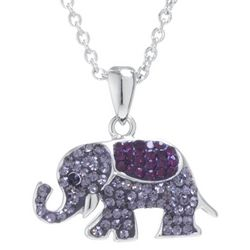 Florida Friends Crystal Elephant Necklace