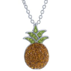 Florida Friends Crystal Pineapple Necklace