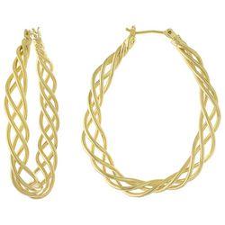 Piper & Taylor Oval Twist 45m Hoop Earrings
