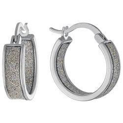 Piper & Taylor Glitter Wide Cuff Earrings