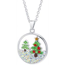 Florida Friends Christmas Tree Pendant Necklace