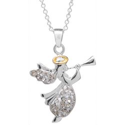 Florida Friends Cubic Zirconia Angel Holiday Necklace