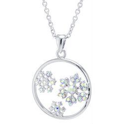 Florida Friends Cubic Zirconia Snowflake Pendant Necklace