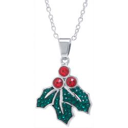 Florida Friends Holiday Holly Leaf Pendant Necklace