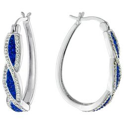 Piper & Taylor Crystal Twisted Oval Earrings