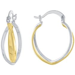 Piper & Taylor Two-Tone Pointed Cuff Earrings
