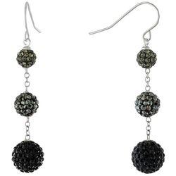 Piper & Taylor Rhinestone Tri-Beaded Drop Earrings