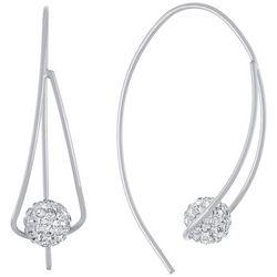 Piper & Taylor Rhinestone Fireball Hook Earrings