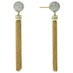 Piper & Taylor Fireball Tassel Bead Earrings