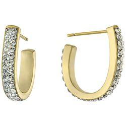 Piper & Taylor Rhinestone 21 mm J-Cuff Earrings