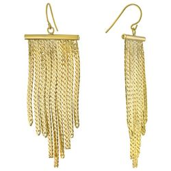 Piper & Taylor Chain Bar Fringe Drop Earrings