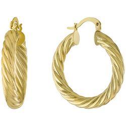 Piper & Taylor Small Diagonal Cut Hoop Earrings