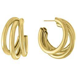 Piper & Taylor Tri-Row C Hoop Earrings