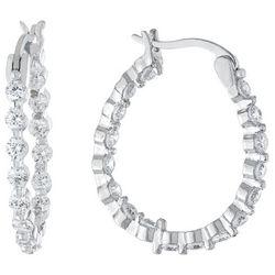 Piper & Taylor Cubic Zirconia Oval Earrings