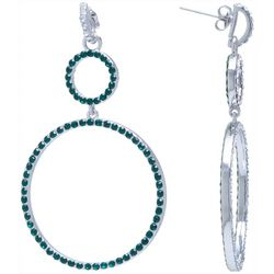 Beach Chic Emerald Green Crystal Ring drop Earring